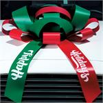 Holiday Message JUM-BOW Magnetic Car Bow - Red / Green
