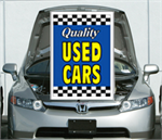 Blue Under The Hood Single Sign - Qualtiy Used Cars