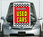Red - Under The Hood Single Sign - Qualtiy Used Cars