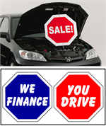 Under The Hood Twisting Sign - We Finance / You Drive