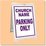 Econo Classic Sign - Church Parking