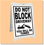 Econo Classic Sign - Do Not Block Driveway