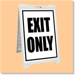 Econo Classic Sign - Exit Only