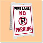 Econo Classic Sign - No Parking Fire Lane