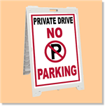Econo Classic Sign - No Parking Private Drive