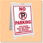 Econo Classic Sign - No Parking Violators will be Towed