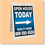 Econo Classic Sign - Open House with Arrow Customized