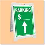 Econo Classic Sign - Parking with Custom Price and Up Arrow