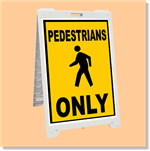 Econo Classic Sign - Pedestrians Only