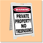 Econo Classic Sign - Private Property No Trespassing