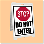 Econo Classic Sign - Stop Do Not Enter