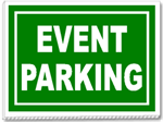 Make sure customers know where to park for your Event.