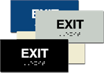 ADA Signage - Exit Braille Sign - 6'' x 3''