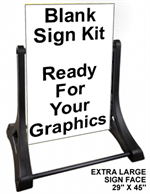 Swinger Sidewalk Sign Kit - Ready For Graphics - Blank EXTRA LARGE