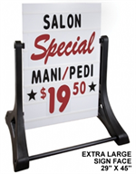Swinger Sidewalk Sign Kit - White Sign Face - Deluxe EXTRA LARGE