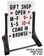 Swinger Sidewalk Sign Kit - White Sign Face - EXTRA LARGE