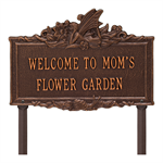 Fairy Garden Personalized Lawn Plaque - Antique Copper