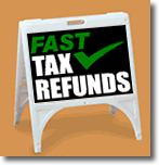 ZQuick Sign - Fast Tax Refunds with Checkmark - 2 Color