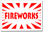 Fireworks For Sale - 24x18 1 Color Yard Sign
