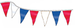Custom Made Pennant String - 9 x 12 Triangle - 60 ft Long - 50 Pennants