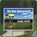 Disk Golf Hole Sponsor Sign - Full Color