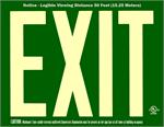 Photoluminescent Exit Signs - 50' Visibility - UL 924 - Green