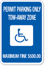 Georgia Handicapped Parking Sign