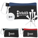 Golf Outing Event Kit includes pouch, golf ball, 5 tees