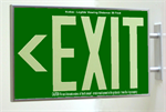 Photoluminescent Exit Sign 1 Sided Side Mount and Chevrons - Green