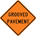 Grooved Pavement Sign 30 x 30