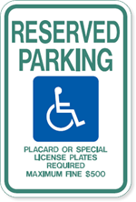 Hawaii Handicapped Parking Sign