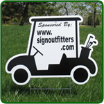 Golf Hole Sponsor Sign - Golf Cart