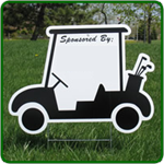 Golf Hole Sponsor Sign - Golf Cart - Blank