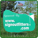 Golf Hole Sponsor Sign - Golf Green