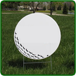 Golf Hole Sponsor Sign - Small Golf Ball - Blank