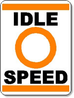 Idle Speed Sign