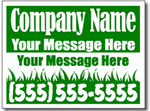Lawn Care Yard Sign featuring Grass Clip Art