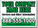 Lawn Care Sign Design LC06 - 25 Signs and Stakes 24x18