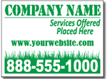 Lawn Signs Design LC13 - One Click Kit - Grass Cutting Yard Signs