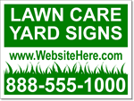 Lawn Care Yard Signs - 25 Signs and Stakes 24x18