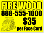 Lawn Signs Design LC10 - One Click Kit - Firewood Sign