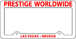 Currently Editing: License Plate Frame #497 - White