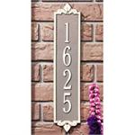 Lyon Vertical Address Plaque Wall Sign - Estate Size