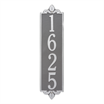 Lyon Vertical Address Plaque Wall Sign - Estate - Pewter / Silver