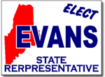 Maine Political Yard Sign With Stands