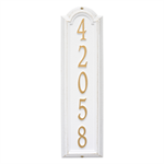 Manchester Vertical Wall Plaque - Standard - White / Gold