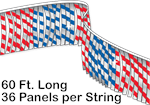 Metallic Leaf Pennant String - 60 ft Long