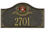Marines Address Plaque - Military Family - 1 Line