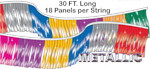 Mirror-Brite Starburst Metallic Pennant String - 30 ft Long