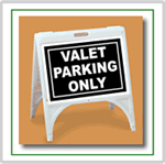 ZQuick Sign - Valet Parking Only